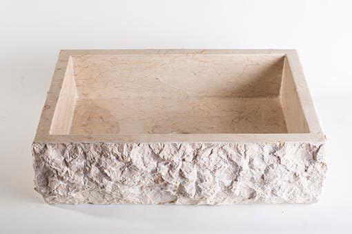 lavandino pietra marmo chiaro rettangolare 2