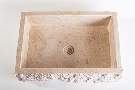lavandino pietra marmo chiaro rettangolare 3