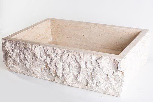 lavandino pietra marmo chiaro rettangolare 4