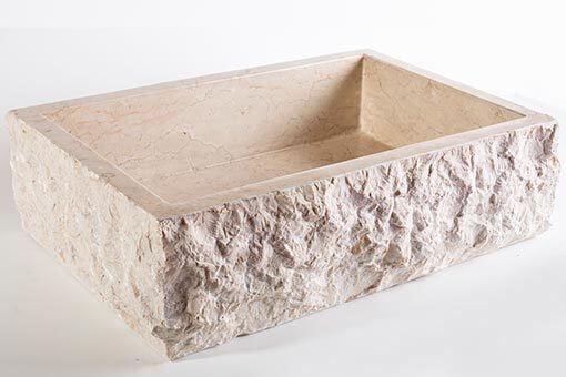 lavandino pietra marmo chiaro rettangolare 5