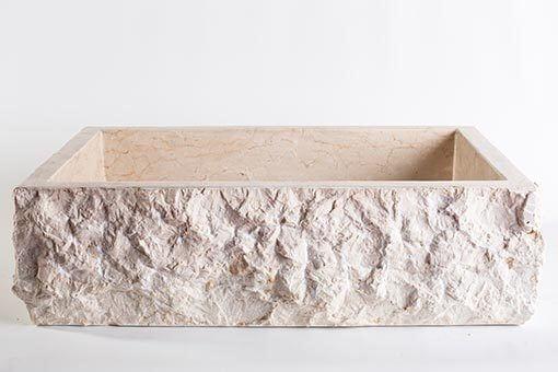 lavandino pietra marmo chiaro rettangolare