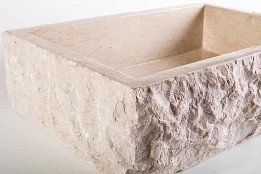 lavandino pietra marmo chiaro rettangolare 6