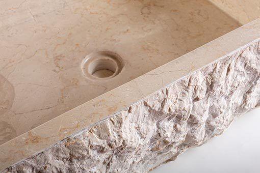 lavandino pietra marmo chiaro rettangolare 7