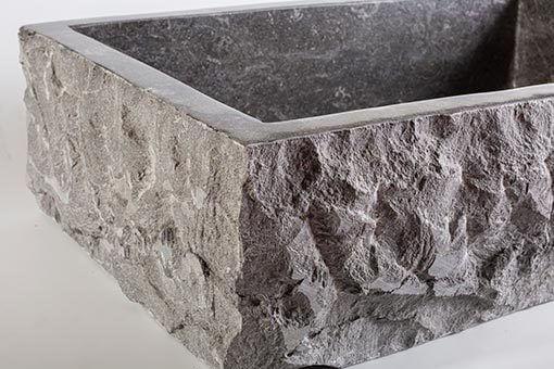 lavandino in marmo scuro rettangolare 2