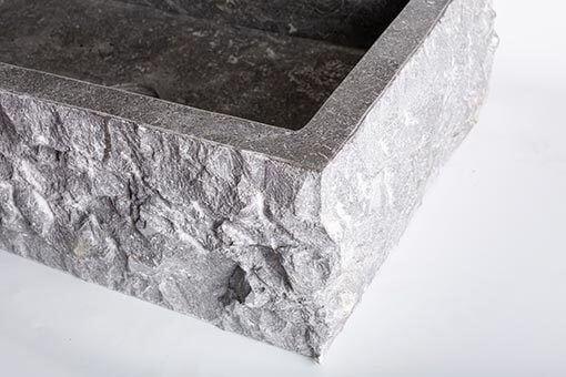 lavandino in marmo scuro rettangolare 3
