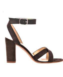 Sandali alti da donna marroni