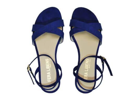 Sandali da donna blu