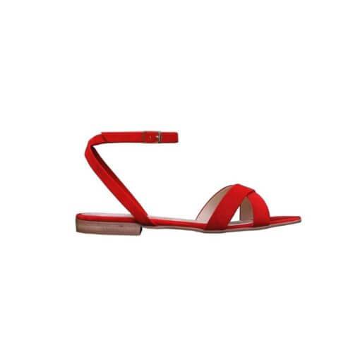 sandalo basso rosso