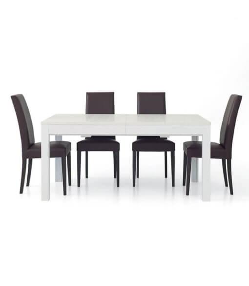 tavolo rettangolare allungabile bianco frassinato