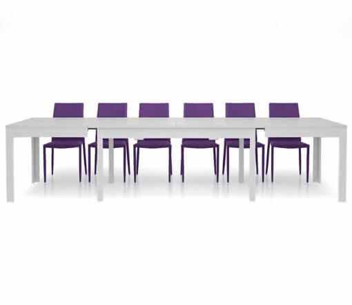 tavolo rettangolare allungabile bianco frassinato 180 cm