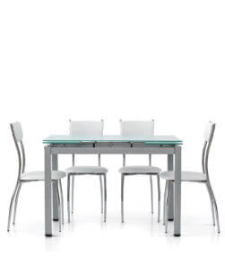 tavolo rettangolare allungabile in vetro