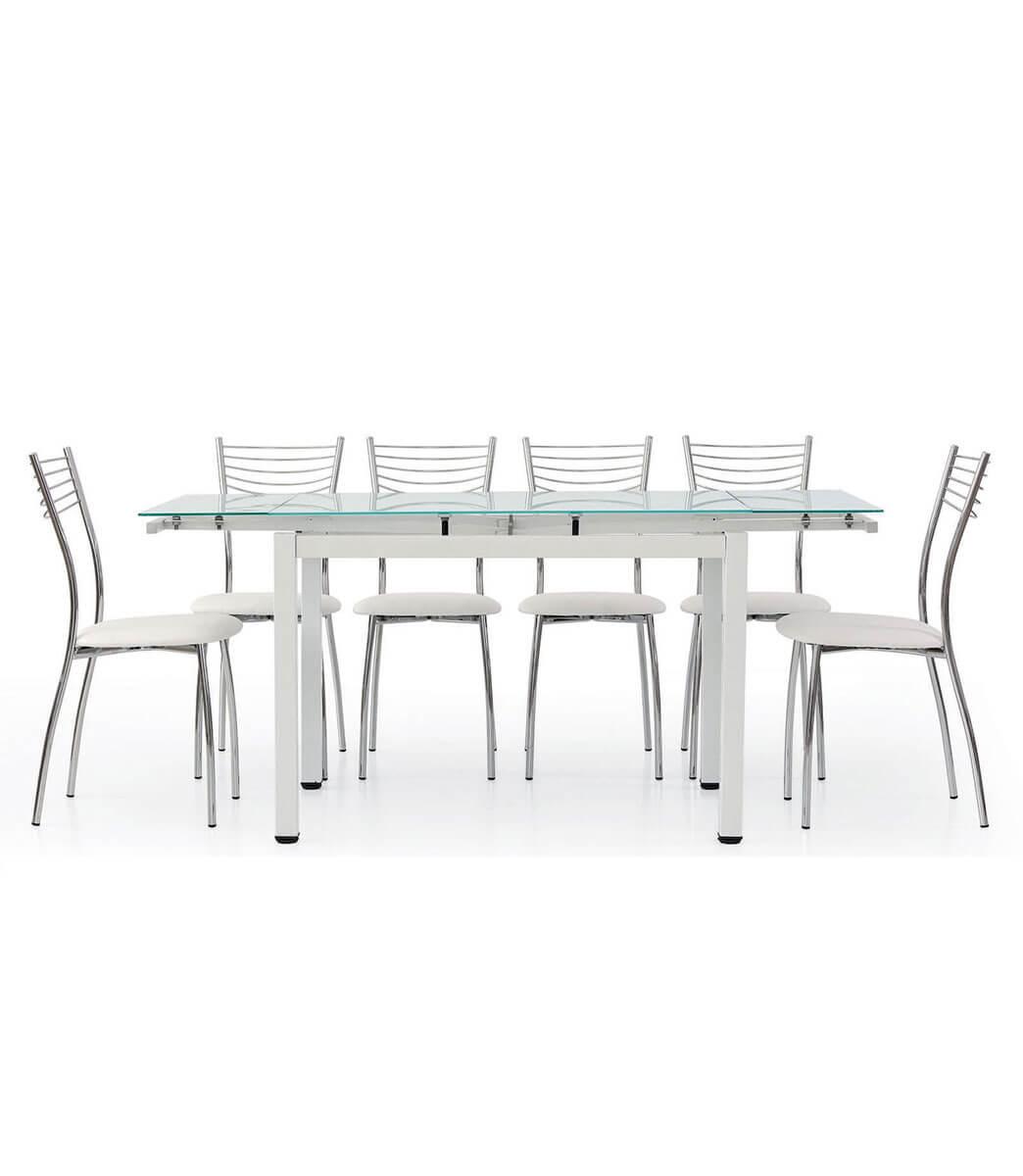 Tavolo Allungabile Moderno Cristallo.Tavolo Da Cucina Allungabile Da 6 A 8 Persone Offerta