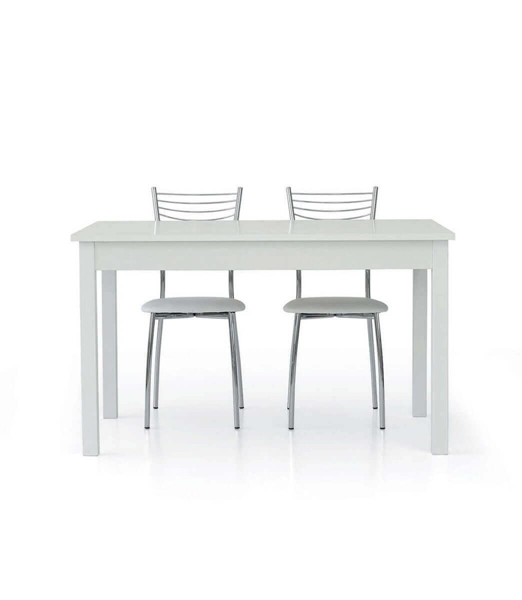 Misure Tavolo Da 6 Rettangolare.Tavolo In Lengo Rettangolare Allungabile Bianco 6 10 Persone