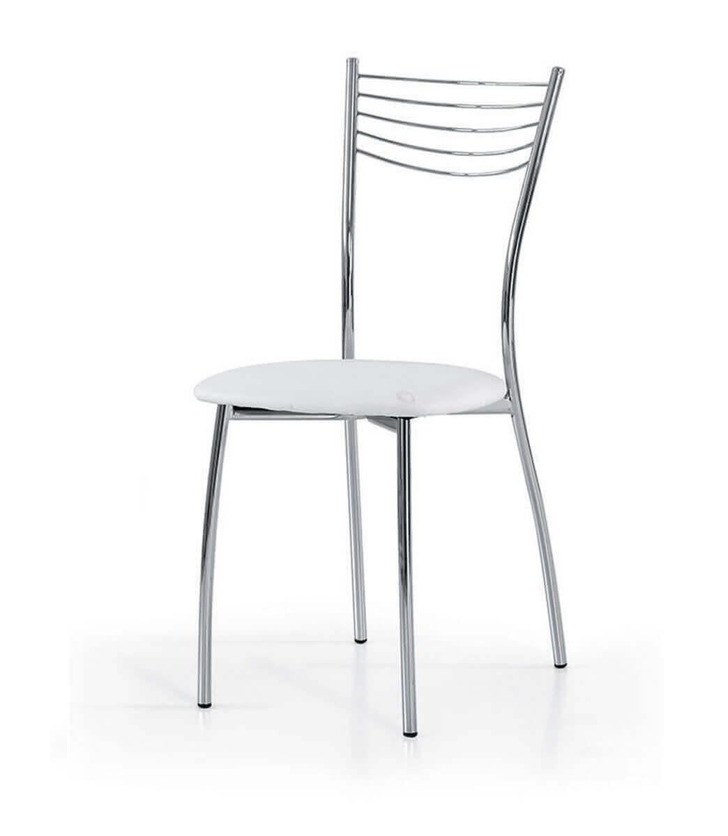 Sedie Acciaio E Plastica.Sedie In Acciaio E Ecopelle In Offerta Spazio Casa Sendero Deals