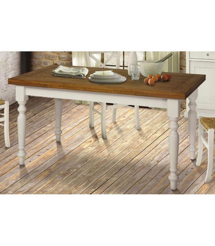Tavolo rettangolare allungabile in legno piano rovere - varie misure -  Spazio Casa