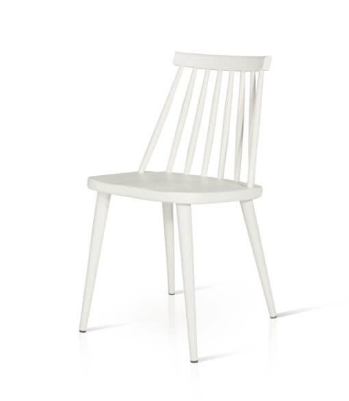 sedia in plastica PVC moderna bianca