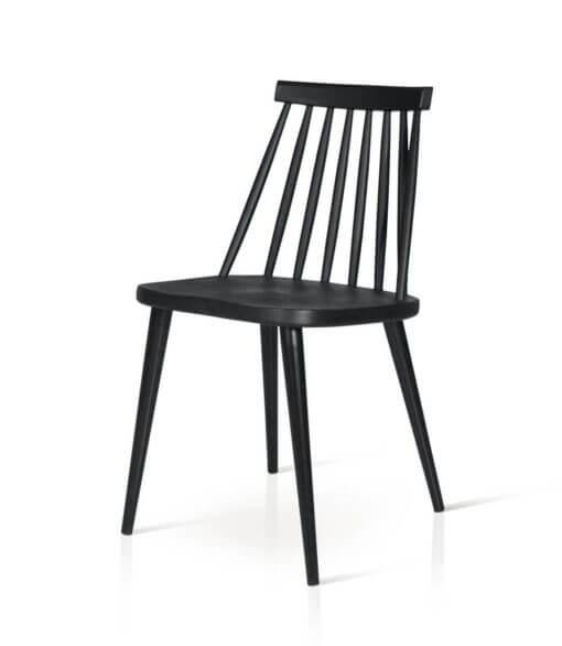 sedia in plastica PVC moderna nera