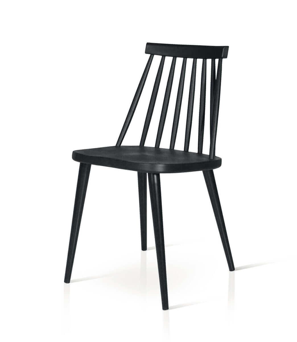 Sedie in plastica PVC e metallo moderne - bianche o nere - Spazio Casa
