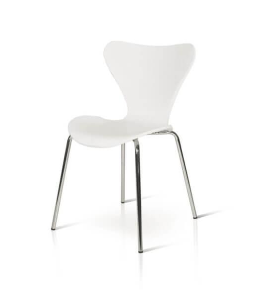sedia in plasctica PVC bianca