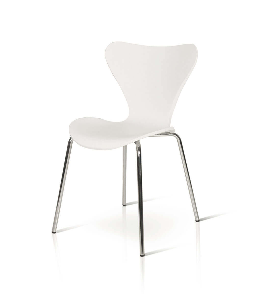 Sedie Moderne In Offerta.Sedie In Plastica Pvc Impilabili Moderne Bianche O Nere Spazio Casa