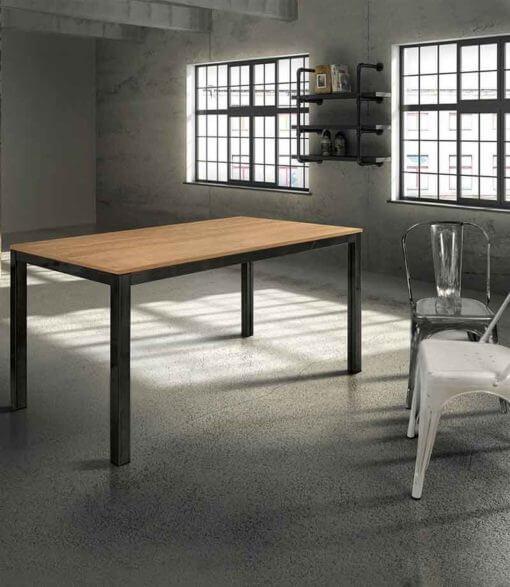tavolo rettangolare rovere struttura metallo
