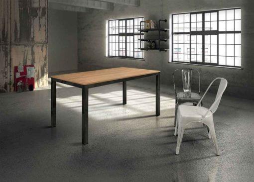 tavolo rettangolare allungabile rovere struttura ferro