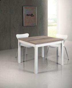 tavolo quadrato allungabile a libro in legno
