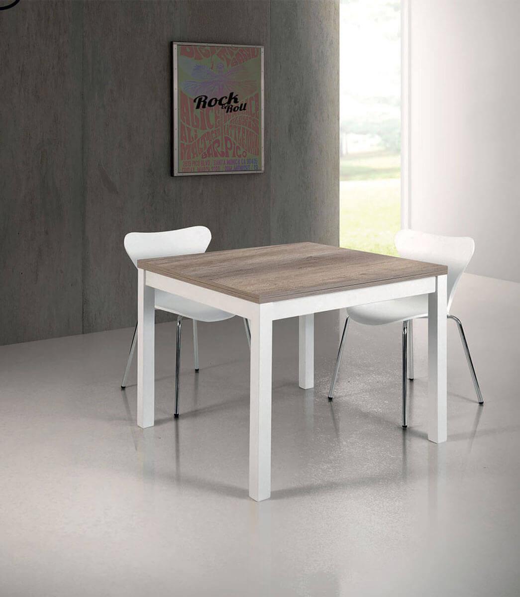 Dimensioni Tavolo Quadrato Per 4 Persone.Tavolo Quadrato Allungabile A Libro In Legno 4 8 Persone 90 180 Cm Spazio Casa