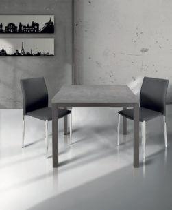 tavolo quadrato allungabile grigio