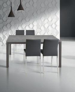 tavolo rettangolare allungabile grigio