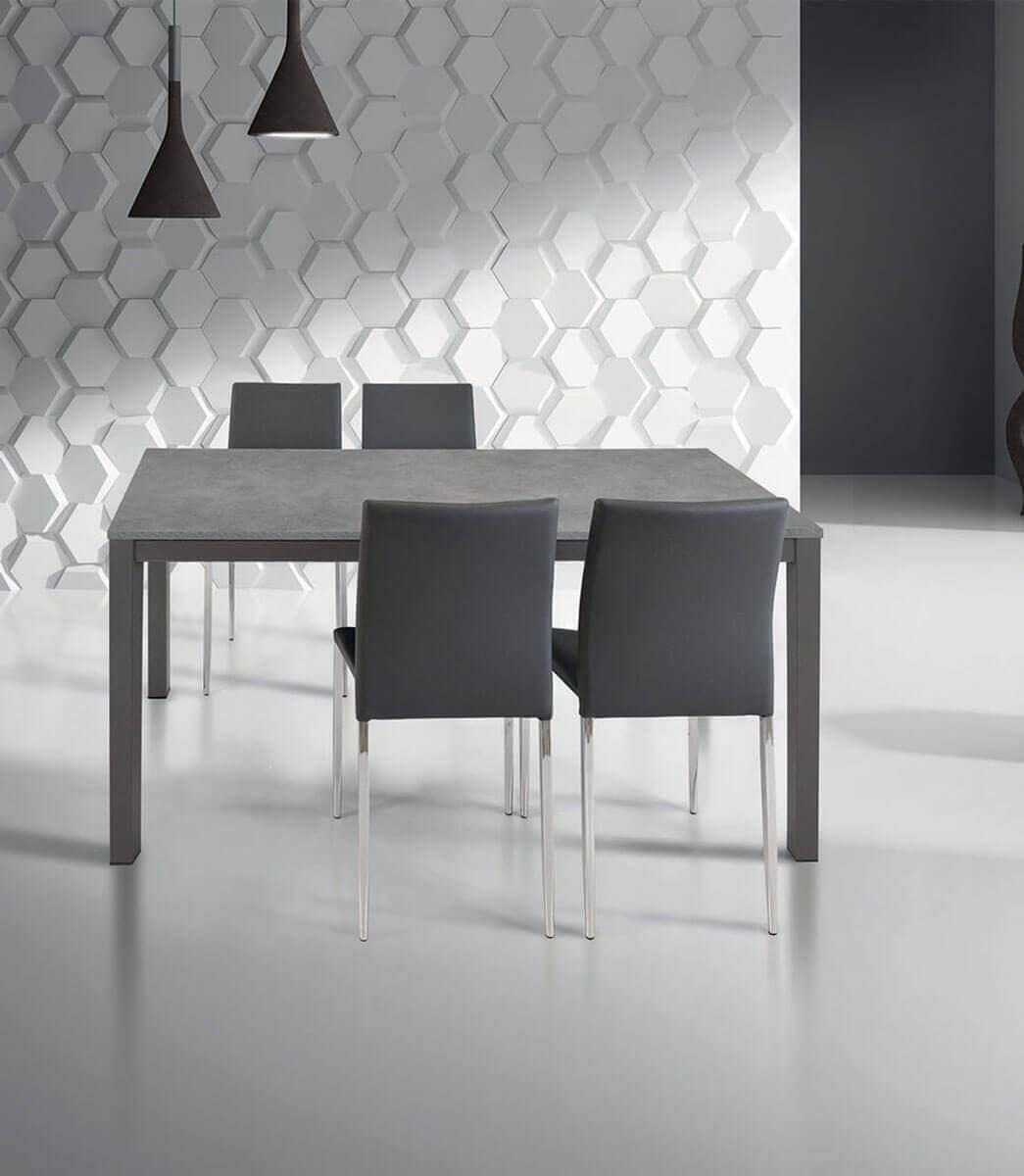 Tavolo Rettangolare Moderno.Tavolo Rettangolare Allungabile Grigio Moderno Varie Misure Spazio Casa
