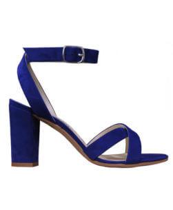 Sandali alti da donna blu