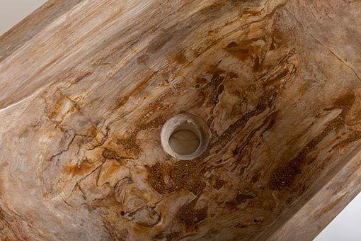 lavandino rettangolare pietra fossile