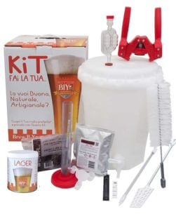 Kit birra con accessori LUX con malto