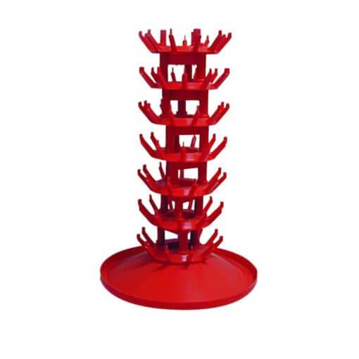 Scolabottiglie rosso in plastica