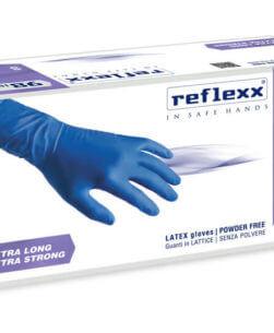 Pack da 50 pezzi guanti in lattice blu Reflexx 98