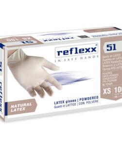 Pack da 100 pezzi guanti in lattice Reflexx51