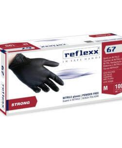 guanti neri reflexx67