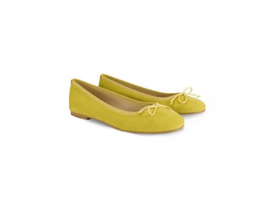 Scarpe ballerine gialle