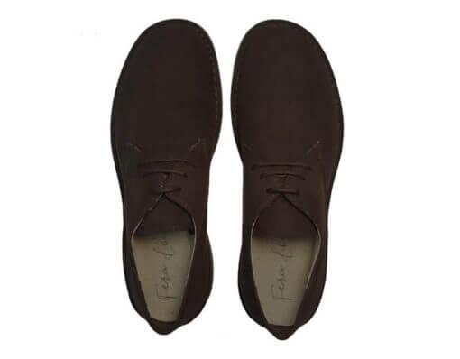 scarpe stringate caffè uomo