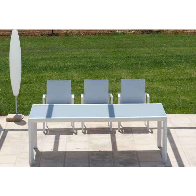 Set Sedie E Tavolo Da Giardino Allungabile Alluminio Vetro Sendero Deals