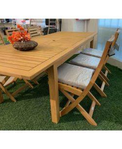 Set da giardino con tavolo Nanchino 246