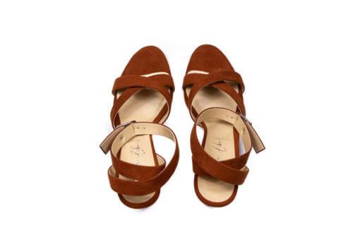 sandali alti ruggine Fera Libens