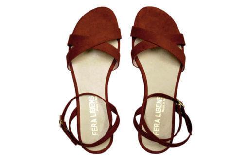 sandali bassi ruggine Fera Libens