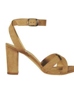 Sandalo alto beige
