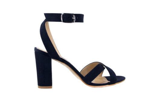 Sandalo alto blu scuro