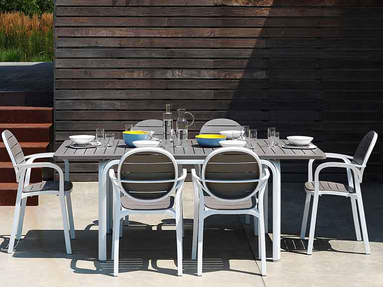 Set Da Giardino Tavolo Allungabile Alloro E 6 Sedie In Alluminio Palma Sendero Deals