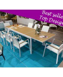 Set da giardino con tavolo e sedie