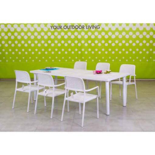 Set tavolo con sedie da esterno