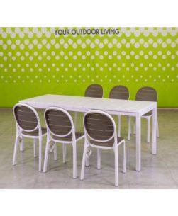 Set da giardino tavolo e sedie